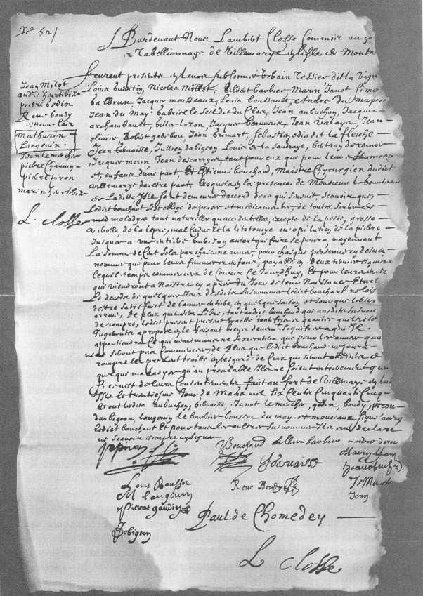 Le premier contrat d'assurance-maladie conclu le 30 mars 1655