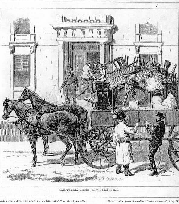 Les déménagements et le transport des bâtiments
